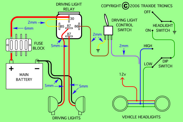 5Pin relay through High Beam wiring diagram needed to install piaa 80 series lamps on 4 6hse High Intensity LED Driving Lights at crackthecode.co