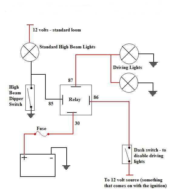 driving light wiring diagrams negative and positive switching negative earth switched hid driving light or spot light wiring diagram standard