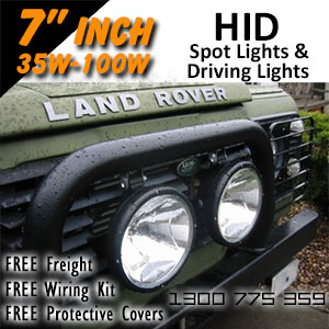 DR500 7 Inch HID Spot and Driving Lights
