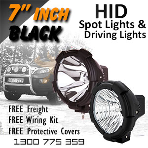 DR500 7 Inch HID Spot and Driving Lights Black