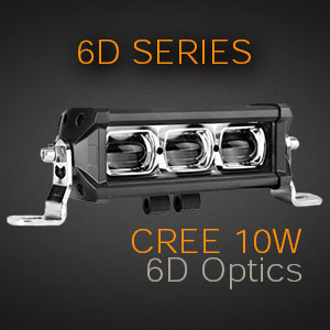 LED Lightbar with 6D Optics