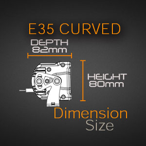 Curved LED Double Row Dimensions