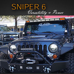 LED Light Bar | Sniper | Single Row Style and Power