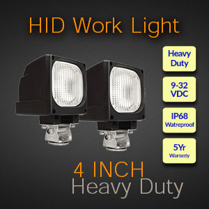 4 Inch Heavy Duty HID Work Light Features