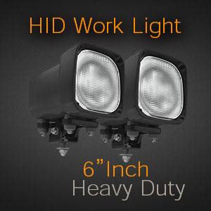 6 Inch Heavy Duty HID Work Light for Tractors and Trucks
