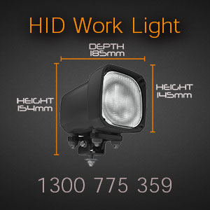 6 Inch Heavy Duty HID Work Light for Tractors and Trucks Dimensions