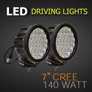 LED Driving Light 7 Inch 140 Watt | Pro Grade