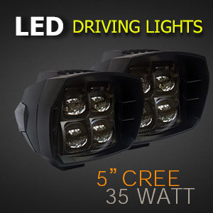 5 Inch 35w LED Driving Light with Spot and Flood Beam Options