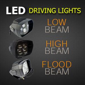 5 Inch 35w LED Driving Light Beam Types - High Beam - Low Beam - Flood Beam