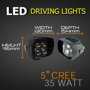 5 Inch 35w LED Driving Light Sizes