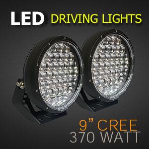 LED Driving Lights 9 Inch 370 Watt | Brightest