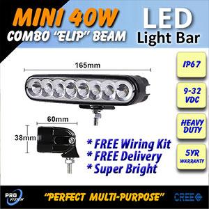 Heavy Duty 6 Inch 40 Watt LED Driving Light Size