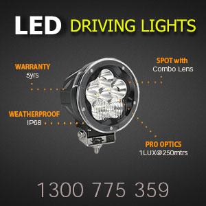 LED Driving Light - 5 Inch 60 Watt - Heavy Duty Features