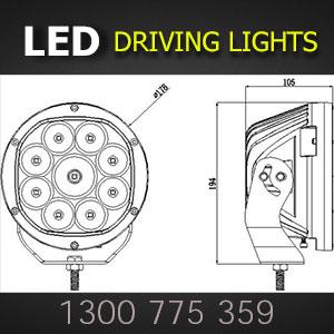 LED Spot Light 7 Inch 135 Watt Dimensions
