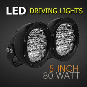 LED Driving Light 5 Inch 80 Watt Professional Grade