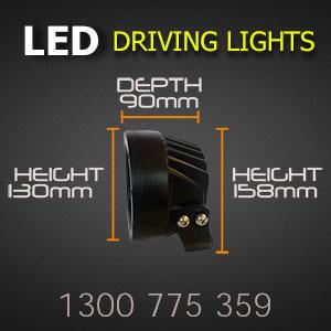 LED Driving Light 5 Inch 80 Watt Professional Grade Dimensions