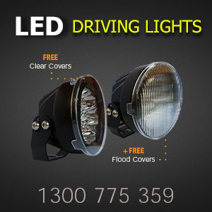 LED Driving Light 5 Inch 80 Watt Professional Grade with Free Protective Covers and Free Flood Covers