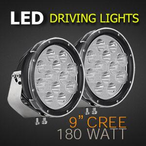 LED Spot Lights 9 Inch 180 Watt