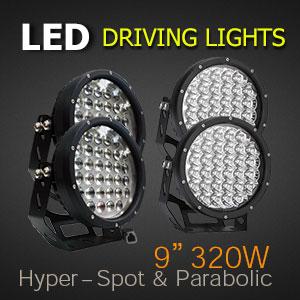 LED Driving Lights 9 Inch 320 Watt Pro Series