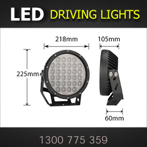 LED Driving Lights 9 Inch 320 Watt Pro Series Dimensions