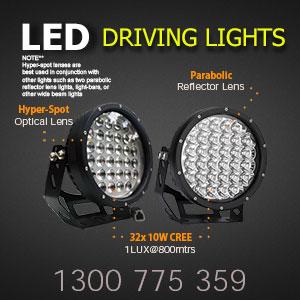 LED Driving Lights 9 Inch 320 Watt Free Flood Covers