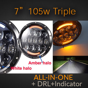 LED Headlight with Multi-Function Indicator and DRL | All-In-One