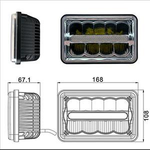 Truck LED Headlamp 6x4 Inch