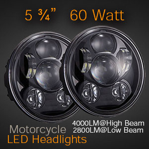 5 3/4 Inch LED Headlight for Motorcycles