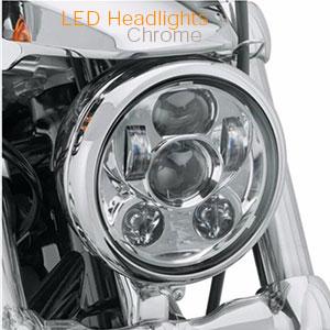 5 Inch Chrome LED Headlamps