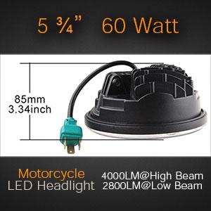 Size of the 5 3/4 LED Headlamp