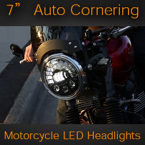 7 Inch LED headlights with Auto Cornering Function