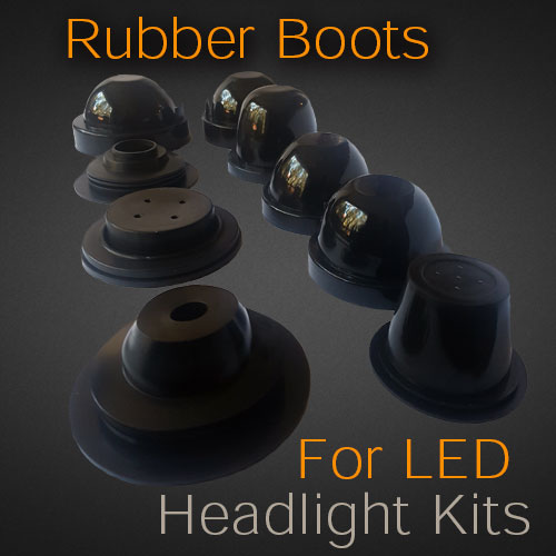 Rubber Boots For Headlight Bulb Covers