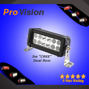 LED Light Bar Dual Row Cree with L Foot Mounting Brackets