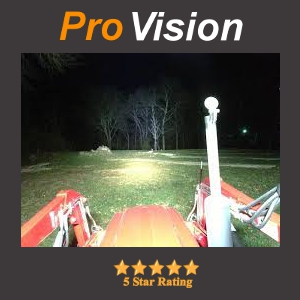 Pro Grade LED Light Bar on a Tractor