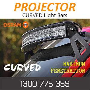 Curved LED Projector Light Bars with 4D Optical Lenses