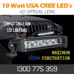 4d Single Row 10 Watt CREE Light Bar