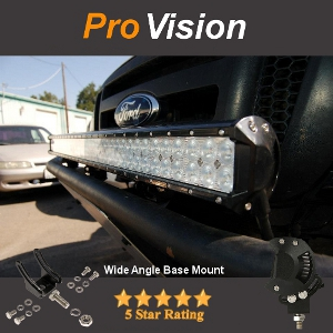 Wide Angle Adjustment on Base Mount ED Light Bar