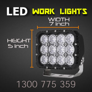 LED Work Light | Heavy Duty 5x7 Inch 120 Watt Dimensions