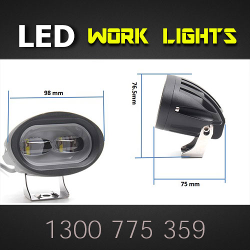 3 Inch LED Work Light Dimensions Thumb