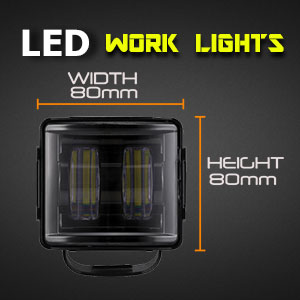 Heavy Duty 3 Inch 30 Watt LED Work Light Size