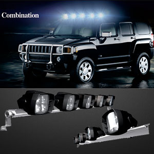 5 Inch 35w LED Driving Light Combinations