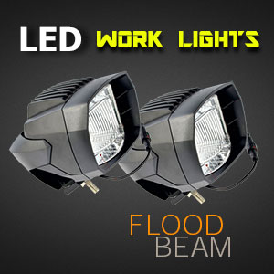 LED Work Light - 5 Inch 35 Watt - Heavy Duty - Flood Beam