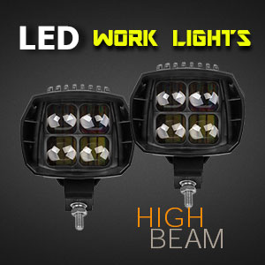 LED Work Light - 5 Inch 35 Watt - Heavy Duty - High Beam