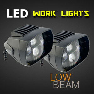 LED Work Light - 5 Inch 35 Watt - Heavy Duty - Low Beam