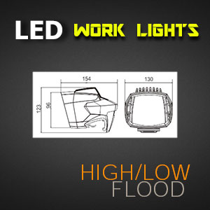 LED Work Light - 5 Inch 35 Watt - Heavy Duty Size