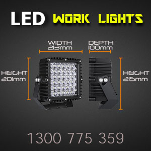 LED Work Light | Heavy Duty 8 Inch 360 Watt Dimensions