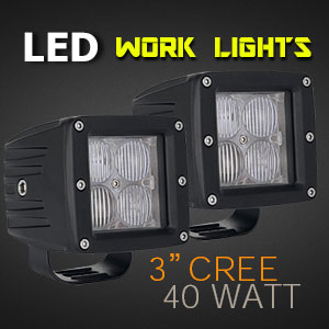 LED Work Light | 3 Inch 40 Watt 4D Optics