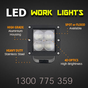 LED Work Light | 3 Inch 40 Watt 4D Optics Features
