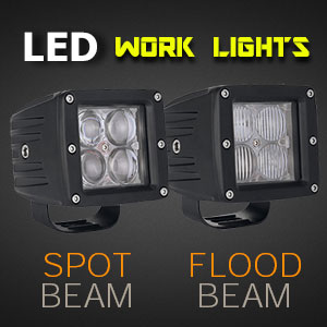 LED Work Light | 3 Inch 40 Watt Spot and Flood Beam