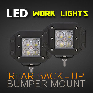 LED Work Light | Flush Mount | 3 Inch 40 Watt Reverse Light